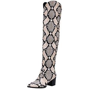 DENER Women's Tall Snakeskin Boots