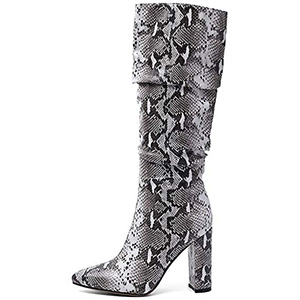ISNOM Colorful Snakeskin Boots
