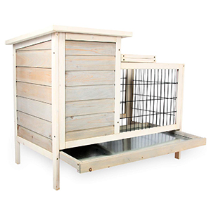Scurrty Wooden Rabbit Hutch