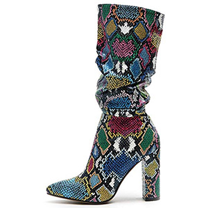 Wetkiss Colorful Snakeskin Boots