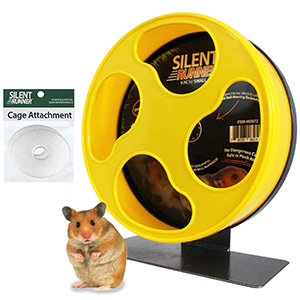 Silent Runner 9-inch Exercise Wheel and Cage Attachment